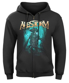 bluza ALESTORM - NO GRAVE BUT THE SEA, rozpinana z kapturem