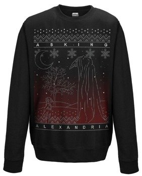 bluza ASKING ALEXANDRIA - THE BLACK CHRISTMAS, bez kaptura