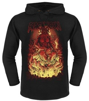 bluza BLACK ICON - HADES czarna z kapturem