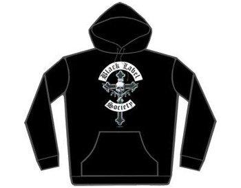 bluza  BLACK LABEL SOCIETY - CROSSGUNS ,czarna z kapturem