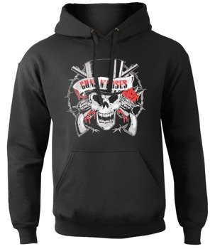 bluza GUNS N' ROSES - DISTRESSED SKULL, z kapturem