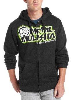 bluza rozpinana z kapturem METAL MULISHA - FALLEN ciemnoszara
