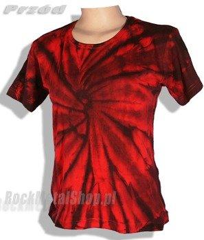 bluzka damska BLACK / RED MIX barwiona