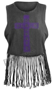 bluzka damska BLACK SABBATH - VINTAGE CROSS, na ramiączkach