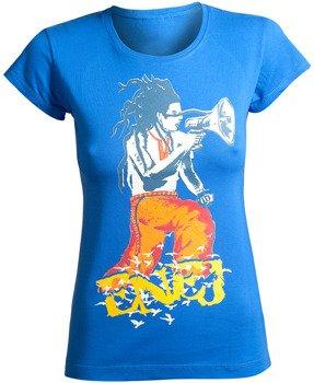 bluzka damska ENEJ - KOZAK niebieska
