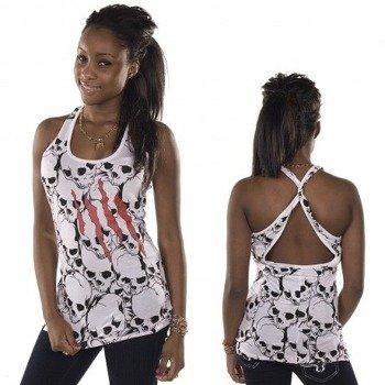bluzka damska na ramiączka IRON FIST - TORN SKULL