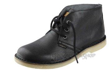 buty skórzane NAGABA - CZARNE RUSTIC (082)