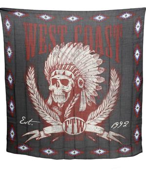 flaga WEST COAST CHOPPERS - SCARF (120cm x120cm) black