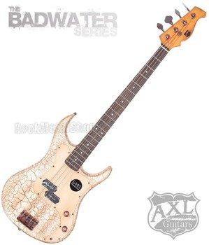 gitara basowa AXL BADWATER / WHITE CRACKLE