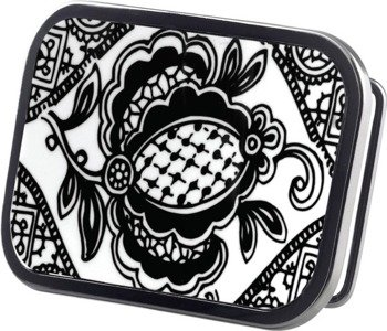 klamra do pasa BANDANA WHITE/BLACK