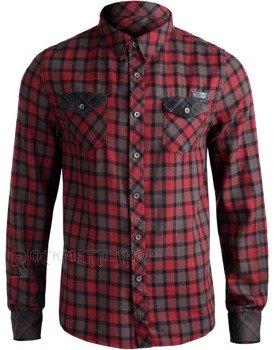 koszula CHECKSHIRT DUNCAN - RED BROWN