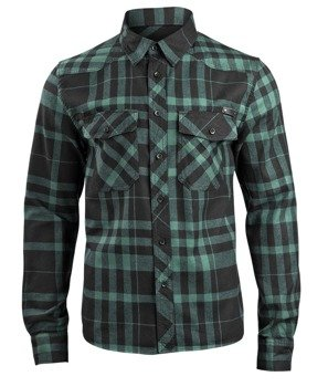 koszula CHECKSHIRT FRED - black/green