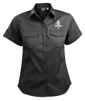 koszula damska AMENOMEN - MOONCAT (OMEN011D1/4) krótki rękaw