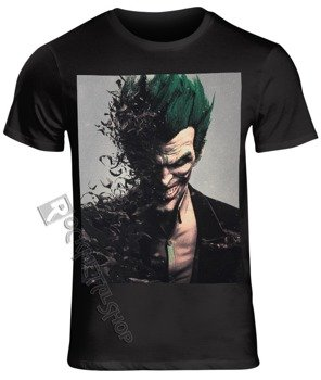 koszulka BATMAN ARKHAM CITY - BAD JOKER FACE czarna