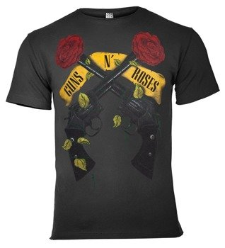 koszulka GUNS N' ROSES - SHOOTING ROSES ciemnoszara
