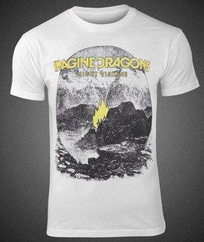 koszulka IMAGINE DRAGONS - FLAME WHITE