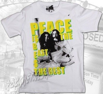 koszulka LENNON & ONO - PEACE biała