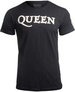 koszulka QUEEN - LOGO & CREST APPLIQUE SLUB