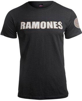 koszulka RAMONES - LOGO & SEAL APPLIQUE SLUB