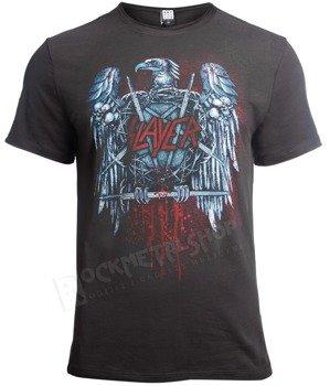 koszulka SLAYER - METAL EAGLE, ciemnoszara