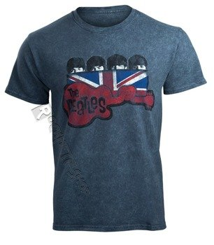 koszulka THE BEATLES - GUITAR AND FLAG