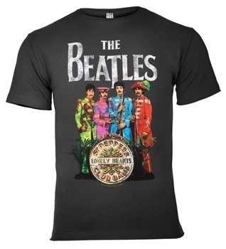 koszulka THE BEATLES - LONELY HEARTS ciemnoszara
