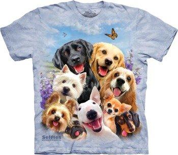 koszulka THE MOUNTAIN - DOG SELFIE, barwiona