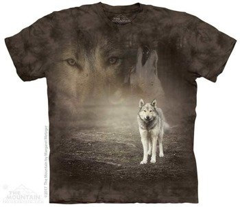 koszulka THE MOUNTAIN - GREY WOLF PORTRAIT, barwiona