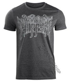 koszulka WEST COAST CHOPPERS - CUSTOM LOGO, melange black