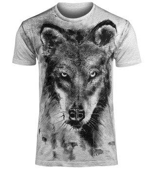 koszulka WOLF, szary melanż