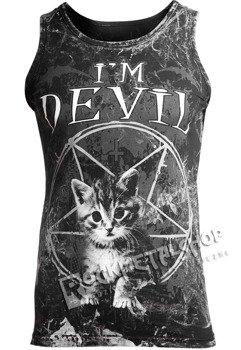 koszulka na ramiączkach AMENOMEN - I'M DEVIL (OMEN065KR ALLPRINT WHITE)