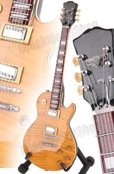 "miniaturka gitary AEROSMITH - JOE PERRY: LES PAUL ""BONEYARD"" STYLE (MPA503)"
