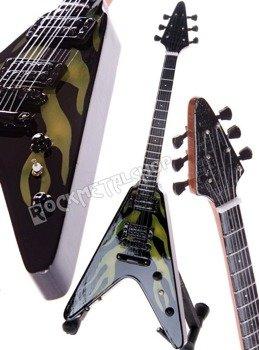 miniaturka gitary METALLICA - JAMES HETFIELD: ESP JH 1 FLYING V HOT ROD