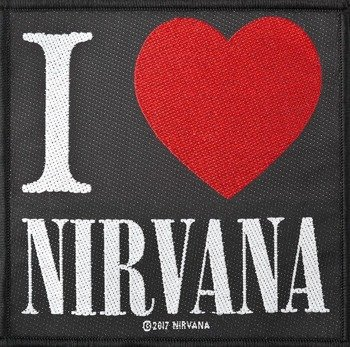 naszywka NIRVANA - I LOVE NIRVANA