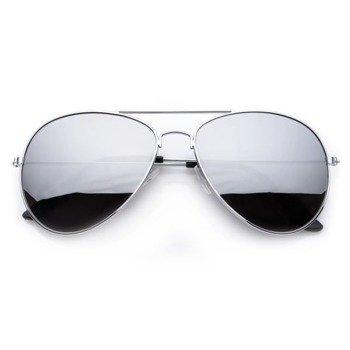 okulary przeciwsłoneczne AVIATOR LUSTRZANKI SILVER