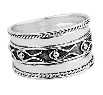 pierścień PLAIN, srebro 925