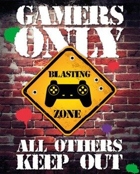 plakat GAMERS ONLY - CONTROLLER KEEP OUT