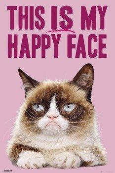 plakat GRUMPY CAT - HAPPY FACE