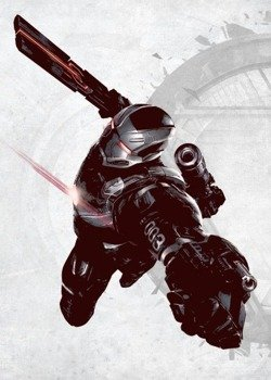 plakat z metalu MARVEL - CIVIL WAR - WAR MACHINE