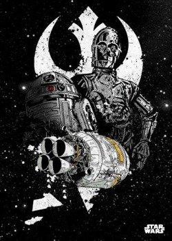 plakat z metalu STAR WARS - SHUTTLE