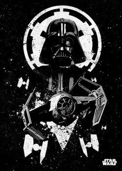 plakat z metalu STAR WARS - TIE ADVENCED