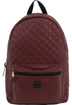 plecak DIAMOND QUILT LEATHER IMITATION BACKPACK burgundy