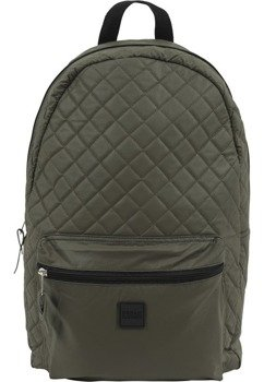 plecak DIAMOND QUILT LEATHER IMITATION BACKPACK olive