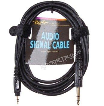 przewód audio BOSTON: DUŻY JACK (6.3mm) stereo - MAŁY JACK (3.5mm) stereo / 1,5m