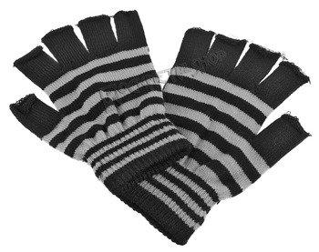 rękawiczki POIZEN INDUSTRIES - BLACK GREY, bez palców