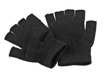 rękawiczki POIZEN INDUSTRIES - BLACK, bez palców