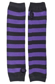 rękawiczki POIZEN INDUSTRIES - STRIPE ARMWARMERS BLACK PURPLE