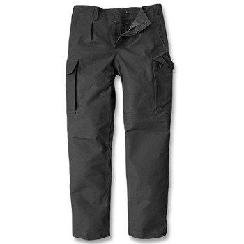 spodnie bojówki MOLESKINHOSE PREWASH SCHWARZ