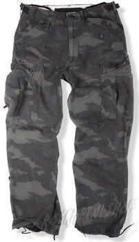 spodnie bojówki VINTAGE FATIGUES M65 WASHED BLACK CAMO