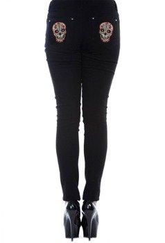 spodnie damskie BANNED - CANDY SKULL